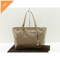 TAS GUCCI IMPRIME GOLD TOTE WATERPROOF HIGH QUALITY