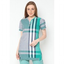 Mobile Power Ladies Short Sleeve Tunic Stripe - Combination Color I8335