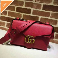 tas gucci marmount red sling bag crossbody.Ori leather