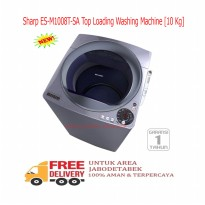 Sharp ES-M1008T-SA Top Loading Washing Machine [10 Kg]-KHUSUS JABODETABEK