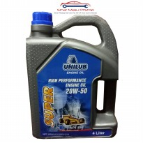 Unilub Super High Performance Engine Oil 20W-50 Oli Mobil Bensin 4 Liter Original