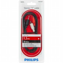 KABEL AUDIO RCA MERAH PUTIH BASEUS SPEAKER TV AUX 2 CABANG E36 CABLE