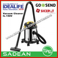 Vacum Cleaner Idealife IL-150V 2 in 1 Wet & Dry With Blow Function [Platinum]