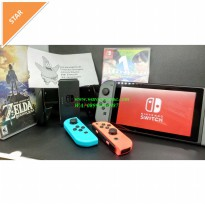 Nintendo Switch (N Switch / NS) - Neon Blue / Neon Red (Bundle 2