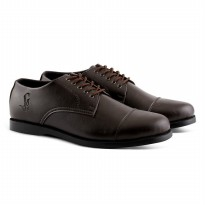 sepatu kasual shinrai longwing brown