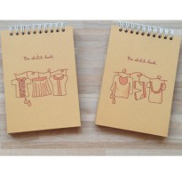 Fashion Sketchbook - Buku Gambar Sketsa Ukuran Kecil Kertas Coklat Polos Simple Murah [PeekMyBook]
