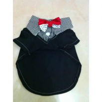 Bow Tie Shirt Pet Clothing Baju Doggie Anjing Kitty Kucing Dog Cat Clothes