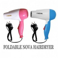 HAIR DRYER NOVA N-658 FOLDABLE TRAVEL HAIR DRYER PENGERING RAMBUT