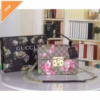 Tas GUCCI FLAP flower floral waterproof. ori leather high quality