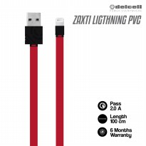 Delcell Kabel Zaxti PVC Flat 2A Faster Charging Lightning 100cm