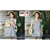 Dress Model Terbaru | suppliyer Dress Wanita | VJ70CLI - candy love it dress