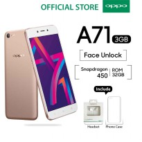 OPPO A71 SMARTPHONE 3GB/32GB Speedy Operation - Gold