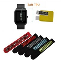 Screen Protector 1 & Strap Replacement 1 for Xiaomi Huami AMAZFIT Bip
