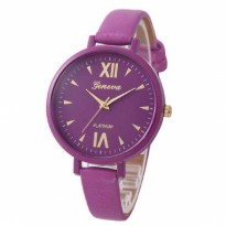 Jam Tangan Wanita / Cewek Geneva Colorfull Leather Purple