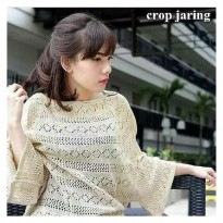 Crop jaring sweater