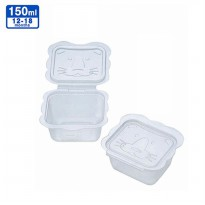 Richell Animal Baby Food Container 150ml (isi 6pcs)