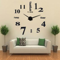 DIY 3D Giant Wall Clock Alpha Number / Jam Dinding Besar