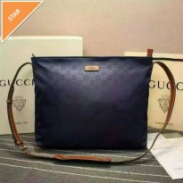 Gucci borsa selempang blue brown leather. High quality. ori leather