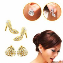 Anting-Anting Korea Crystal Austria Element Lapis Emas 18K