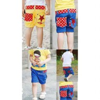 Unisex pocket star pant 2 warna / celana anak motif star