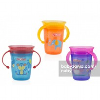 Nuby Wonder 360° Cup with Handle 240ml (Tersedia 3 Pilihan Warna)