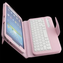 [globalbuy] New luxury Wireless Bluetooth Keyboard pu leather stand Case cover For Samsung/3707224