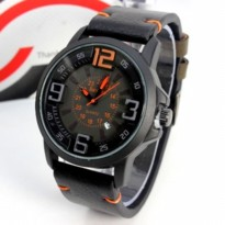 Jam Tangan Cowok Superdry Leather Black