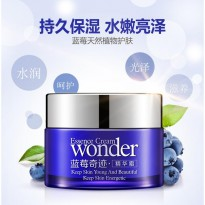 BioAqua Wonder Blueberry Essence Cream Krim Perawatan Ekstrak Blueberry