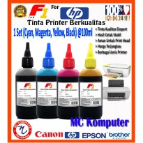 F1 Ink HP 1Set CMYK 100 ml