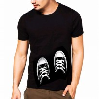 Kaos Oblong Tshirt Tangan pendek Pria Print - Jfashion Shoes