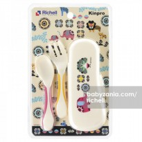 Richell Kinpro Gripable Spoon Fork with Case