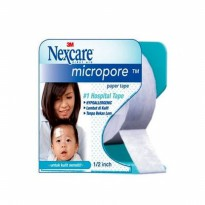 Micropore 1/2 inch 3M Nexcare Plester Kertas