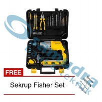 STANLEY STDH 7213 Mesin Bor Tembok Set Value Pack + Sekrup Fisher Set