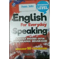 Buku English For Everyday Speaking Bahasa Inggris untuk