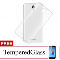 Case for Xiaomi Mi Max - Clear + Gratis Tempered Glass - Ultra Thin Soft Case