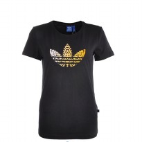 adidas Originals Back 2 Basics Leo Trefoil T-Shirt - Women's M30290 Black