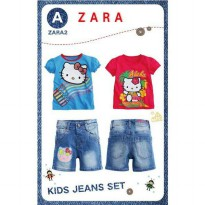 Baju Setelan anak Hello Kitty ZARA 3in1-Import