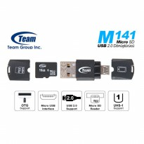 Team M141 Card Reader OTG Support MicroSD & Micro USB