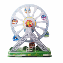 Puzzle 3D Ferris Wheel Amusement Park Series 77 Pcs - Ages 5+