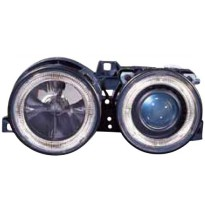 444-1116PXNDBE2 HEAD LAMP BMW M40 1988 (CELL RIM-BLACK)