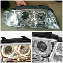 446-1104PXNDAM1 HEAD LAMP AUDI A4 B5 1999 sd 2001 (CHROME)