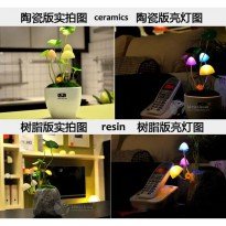 7 Warna LED Avatar Mushroom Lamp,Dream Jungle Edition,Avatar Light,Automatic Light Control