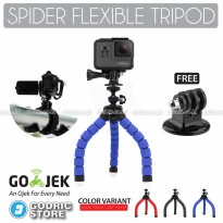 Godric Spider Mini Flexible Tripod with Tripod Mount Adapter for Xiaomi Yi, BRICA & GoPro