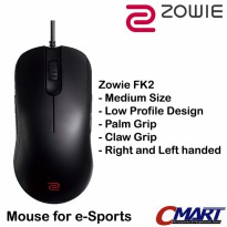 BenQ Zowie FK2 Gaming Mouse Medium Size for e-Sports gamer - ZWI-FK2