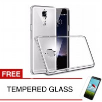Crystal Case for OnePlus 3T - Clear Hardcase +  Gratis Tempered Glass