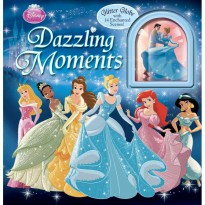 [Xivan] Disney Princess Dazzling Moments Story Book includes Glitter Globe with 14 Enchanted Scenes!