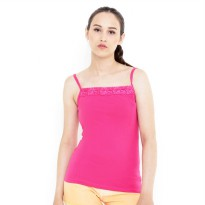 Mobile Power Ladies Big Brocade Tanktop - Pink Fanta B6796