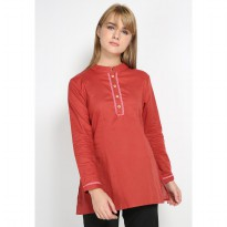 Mobile Power Ladies Tunic Shanghai Neck - Terracota D8338