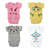 KAZEL BODYSUIT/ JUMPER BAYI MOTIF RABBIT EDITION 4IN1