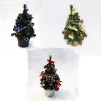 25 cm Pohon Natal mini Christmas Tree gift bonsai ornamen
